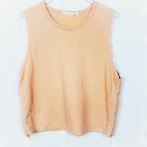Athleta Light Orange Cropped Sweater Tank Size XL